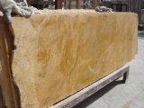 Polished сляб стены мрамора желтого цвета меди цены по прейскуранту завода-изготовителя