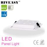 15W quadrado acrílico LGP LED painel com grande radiador