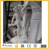 Weiße Marmorschnitzende Steindame Figure für Garten und Dekoration