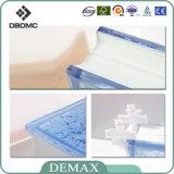 Bloc de verre décoratif clair creux coloré de haute qualité