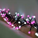 装飾のための最新のWhite+Pink LEDストリングライト