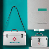Alumínio portátil Kit de Primeiros Socorros bloqueável para armazenamento de Medicina