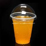 Pp. löschen milchiges Plastikcup des Tee-360ml u. des Safts mit Deckel