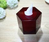 Nuevo diseño Hexgon Caja Servilleta acrílico