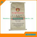 Custom Logo Kraft Paper Tres papel compuesto y polipropileno tejidos compuestos bolsas de cemento para uso industrial