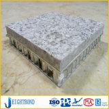 建築材のための支持された曲げられた石造りアルミニウム蜜蜂の巣のパネル
