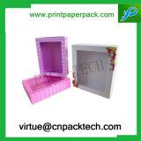 Contenitore di regalo di carta rigido personalizzato del cartone di lusso con la finestra per le bottiglie di plastica