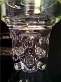 Tubulação de água de vidro de fumo do Borosilicate de AA040 Handblown