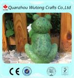 Figurine animale su ordinazione della rana della resina della decorazione del giardino