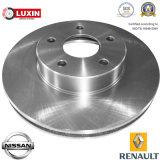 Тормоза автомобиля и части тормозной диск тормоз ротора для Nissan / Renault