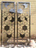 Foshan Factory Price 304 Bronze Color Stainless Steel Decoração Partition Art Screen for Room Divider