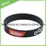 Marchio su ordinazione di stampa sul Wristband del silicone