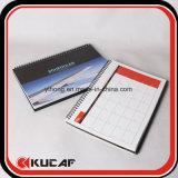 Calendário espiral de calendário de mesa Calendário Plann Book