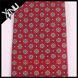 Laço vermelho da cópia feita sob encomenda Handmade nos laços de seda para homens