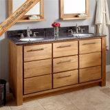 連邦機関1598の最上質の浴室の虚栄心の浴室用キャビネットの純木の浴室の家具