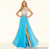 Prom 당을 구슬로 장식해서 파란 상아빛 야회복 Z1045를 가운을 입는다
