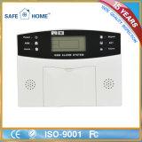 GSM incendio en el hogar alarma antirrobo de visualización del panel de control LCD