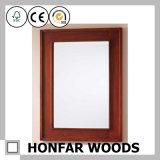 Blocco per grafici di legno dello specchio di colore rustico del caffè per la stanza da bagno dell'hotel