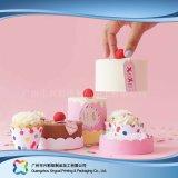 Rectángulo de empaquetado de papel de la cartulina linda para la torta del alimento (xc-fbk-032c)