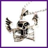 De goedkope Halsband van de Tegenhanger van de Schedel van de Ster Hiphop van de Juwelen van de Legering Gotische