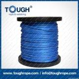 파란 색깔 8.5mmx30m 4X4 합성 윈치 밧줄 거친 밧줄