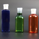 Bernsteinfarbige wesentliches Öl-Großhandelsglasflasche mit Plastiküberwurfmutter