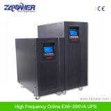高周波二重変換20kVA 3phaseの入力および1段階によって出力されるオンラインUPS