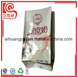 Bolso plástico de aluminio del alimento del escudete lateral