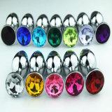 13 colores venden al por mayor el enchufe anal del tope cristalino inoxidable tamaño pequeño