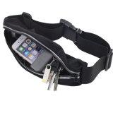 [سبورتس] جيب مزدوجة حزام سير جار [ويست بلت] حقيبة لياقة تمرين بدنيّ حزام سير