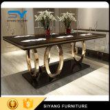 Jantando a tabela de jantar do MDF da tabela do aço inoxidável da mobília para a venda