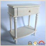 서랍 선반 의 백색 완료를 가진 목제 작은 테이블 또는 밤 대