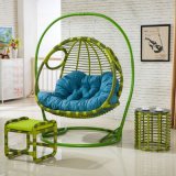 庭の家具の倍の振動、藤の家具、藤のバスケット(D155A)