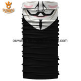 Venda por atacado Black Seamless Skull Face Tube Mask Bandana