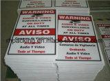 Panneaux d'alerte jaunes imperméables à l'eau avec panneaux d'impression / interdiction / Feuille de découpe / feuille de plastique PP