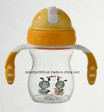 250ml Bleisatz Baby-Flaschen-Herstellungs-Baby-führende Flasche, rosafarbene Farben-Kind-Wasser-Flasche