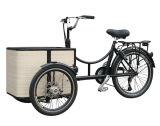 Nuevo modelo Bakfiets triciclo de tres ruedas de carga eléctrica barata para la venta de bicicletas