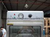 Gabinete de aquecimento do armazenamento de vidro da terra arrendada do alimento da porta feito em China