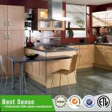 Gabinete de cozinha de madeira modular do melhor uso da HOME do sentido com bancadas do granito