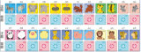 Japão Kids Cartoon Education Game Playing Cards (47782)