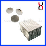 Imán redondo de la capa del níquel del bolso del imán de cuero de los discos (D10*2mm)