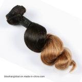 Smaragdton-Farben-brasilianisches Jungfrau-Haar der sprung-Wellen-zwei