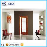 Simple porte en bois massif de pivotement de l'intérieur, prix de porte