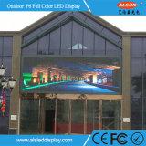 El panel de visualización fijo al aire libre de LED P6 del alto brillo
