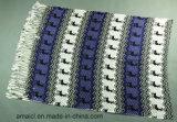 Plusieurs couleurs imprimées Stripe machine lit plat imprimé châle acrylique (ABF22004014)