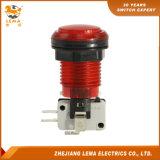 전기 3A 8A 16A 빨간 플라스틱 LED 누름단추식 전쟁 마이크로 스위치 Pbs-003