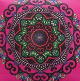 Faux decorativo textura de lino hecha a mano caja de la almohadilla del amortiguador de la cubierta (DPF107144)