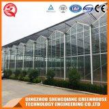 A agricultura pré-fabricou uma estufa do vidro dos jardins do batente