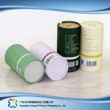 Caja de embalaje de empaquetado de papel de lujo del vino del café del regalo del tubo (xc-ptp-008)