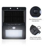 20 LED IP65 imprägniern Fühler-Wand-Licht des drahtlosen menschlichen Bewegungs-Fühler-Garten-Licht-im Freien Solar-PIR